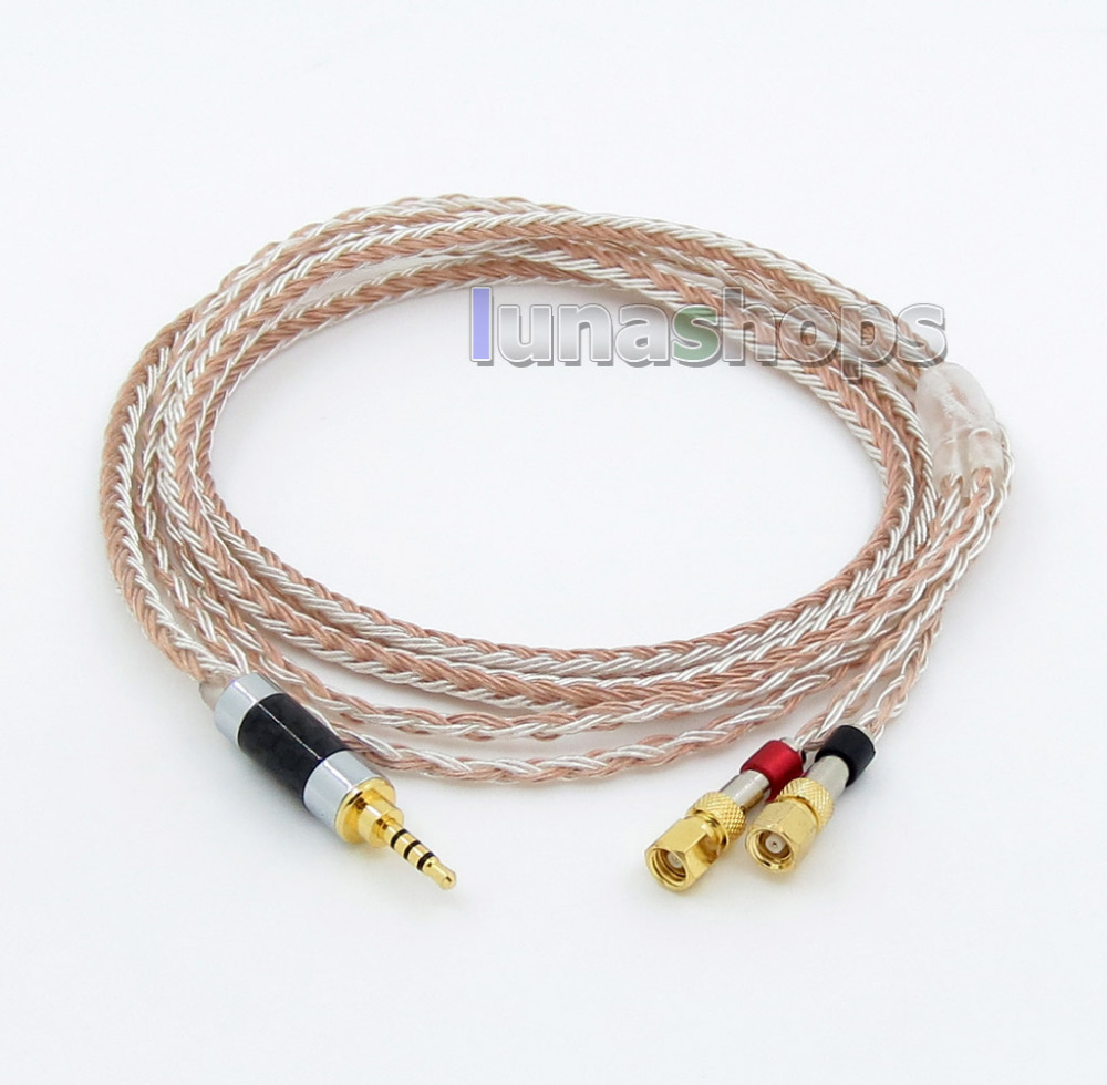 2.5mm 4pole TRRS Balanced 16 Core OCC Silver Mixed Headphone Cable For HiFiMan HE400 HE5 HE6 HE300 HE560 HE4 HE500 HE6 LN005799 купить в Москве 2019