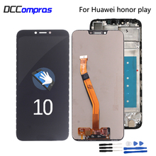 цена на Original For Huawei Honor Play COR-L29 LCD Display Digitizer Touch Screen Assembly For Huawei honor play LCD Screen Display