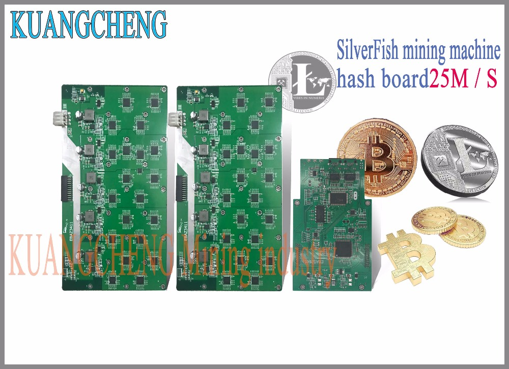 KUANGCHENG MINING FREE SHIPPING SilverFish hash board 25M Litecoin Miner  Scrypt Miner the 420w better than ASIC miner Zeus 25M L