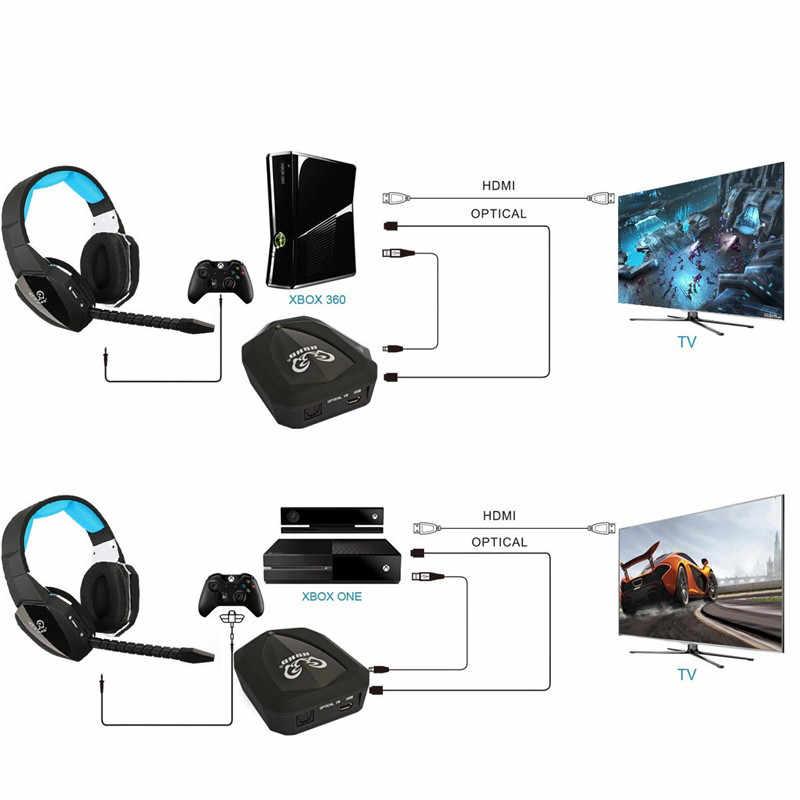 HUHD 2019 nowe słuchawki bezprzewodowe optyczny bezprzewodowy zestaw słuchawkowy do gier na XBox 360/one, PS4/3, PC, słuchawki, ulepszony dźwięk Surroun 7.1