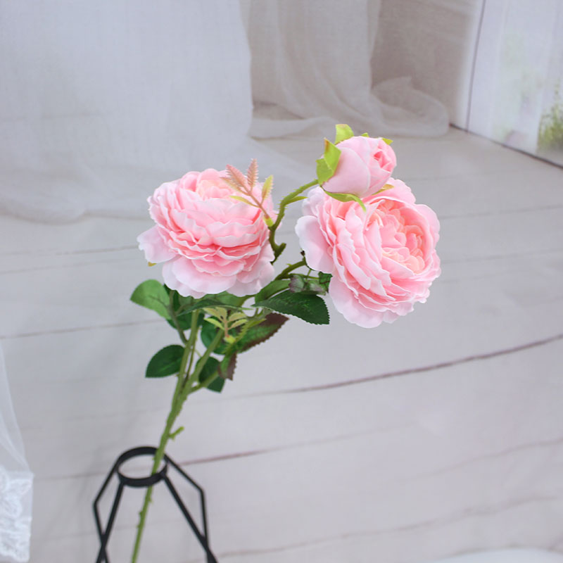 white peony artificial roses fake flowers (10)