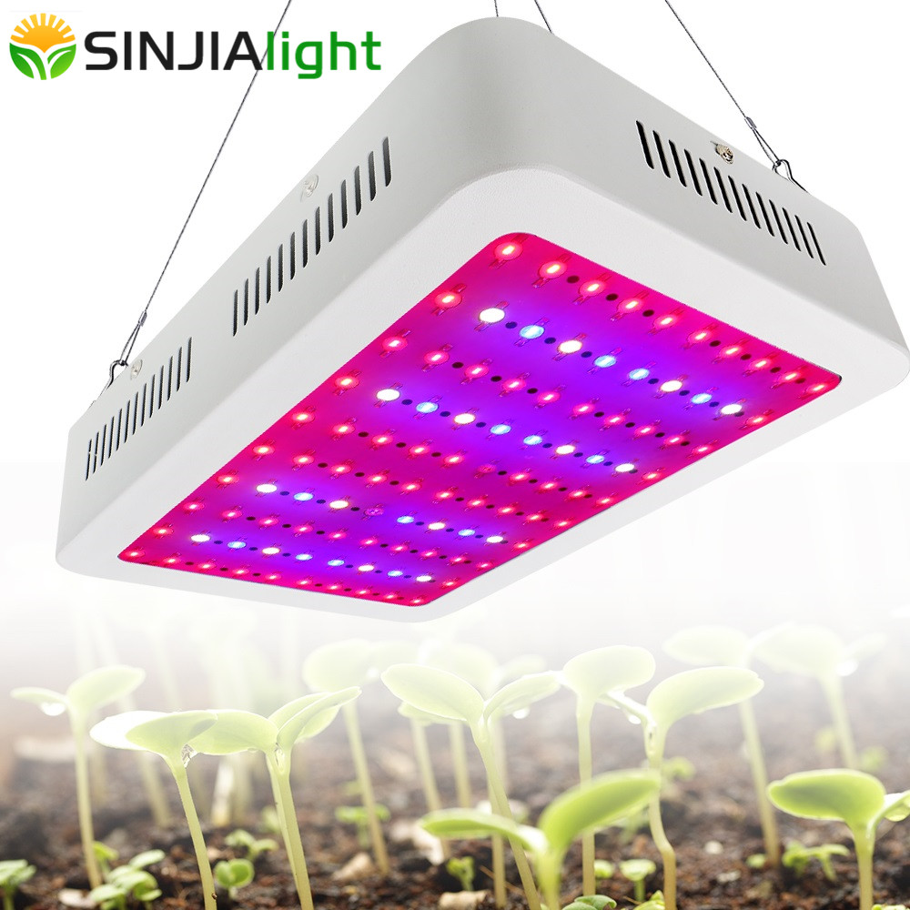 1000 W fuld spektrum LED Grow Light Double Chip Growing Panel Plantelampe til hydroponics vegs urte drivhus telt indendørs planter