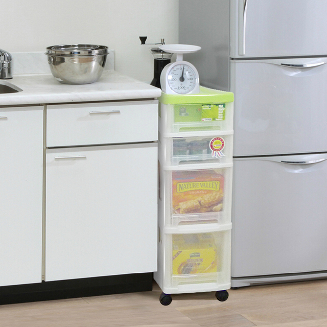 Superbe Tenma Day Melphalan Clean Plastic Narrow Version With Four Wheel Mobile  Transparent Drawer Storage Cabinets