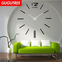 Decorate 3D clock art wall mirror sticker decoration Decals mural painting Removable Decor Wallpaper LF-1885