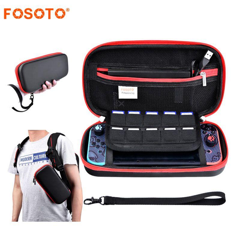 fosoto निंटेंड स्विच खेल बैग - खेल और सहायक उपकरण