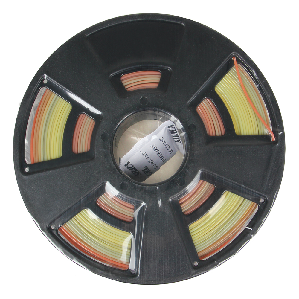 Colorful 3D Printer PLA Gradient Color Filemant 1.75mm Free Shipping flsun 3d printer big pulley kossel 3d printer with one roll filament sd card fast shipping