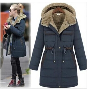 Anorak para Parka de Casual Lined mujer mujer militar gruesa de Fur abrigo complementos Chaqueta y Fleece capa en en Parkas Moda invierno Faux 7Cxwva54q