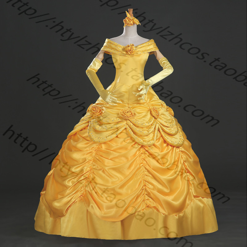 Good quality Beauty And The Beast Belle et la Bete Belle Dress Cosplay Costumes Party Cosplay Dresses