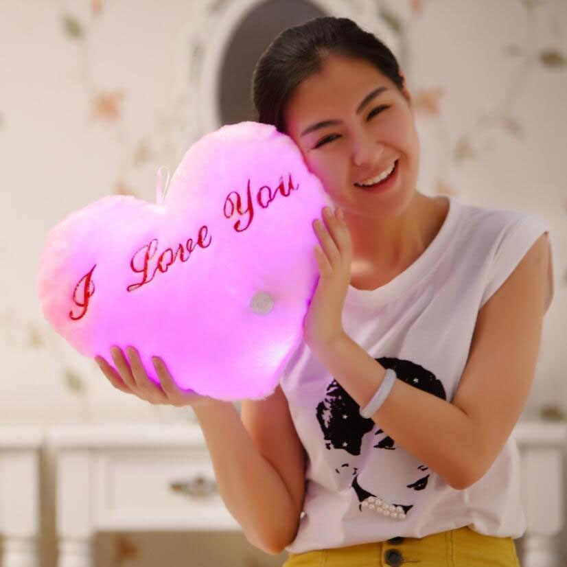 36*30 см креативная светящаяся любовная Подушка красочная светящаяся плюшевая кукла-подушка светодиодные игрушки подарок