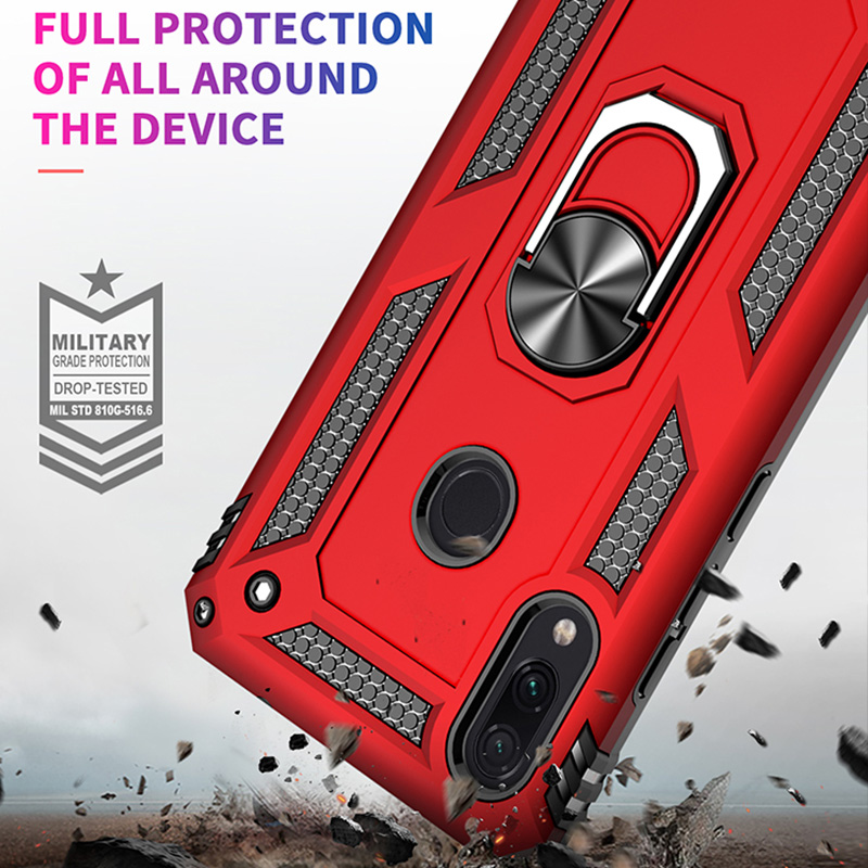 ZNP Luxury Armor Stand Case For Xiaomi And Redmi Note 7 8 Pro With Magnetic Ring Holder 3