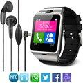 Smart watch gv18 reloj de sincronización de notifier tarjeta sim soporte de conectividad bluetooth para android teléfono smartwatch reloj 2016