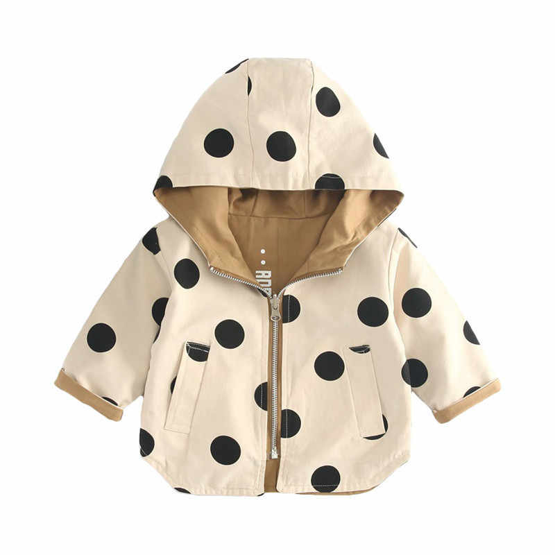 Spring Autumn Thick Girls Jackets Double Sided Kids Outerwear Letter Sport Hoodied Coats Children Clothing Teenager Trench Coat