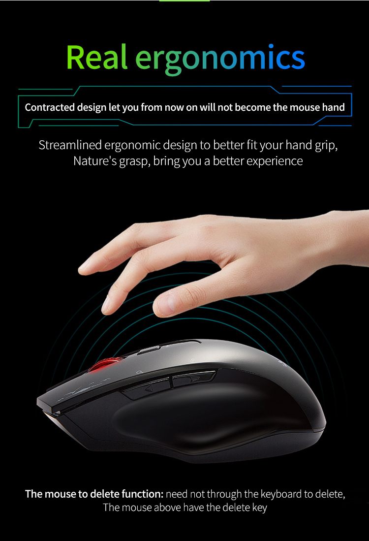 Cerreat Smart Voice Translation Mouse Portable Instant Intelligent speech translateTypingSearch 2.4G Wireless Mouse with Enter Key 24 Target Languages (10)