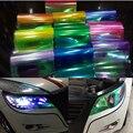 "60 cm x 30 cm 24 ""x 12"" Brilhante Chameleon Car Styling luzes faróis Taillights Translúcido film Sticker mudar de Cor Adesivos"