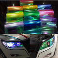"60cm x30cm 24"" x 12"" Shiny Chameleon Car Styling headlights Taillights Translucent film Sticker lights Change Color Stickers"