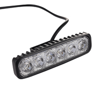 LED Work Light Bar 18W For Motorcycle Car Truck Boat Tractor Working Light Off Road Work