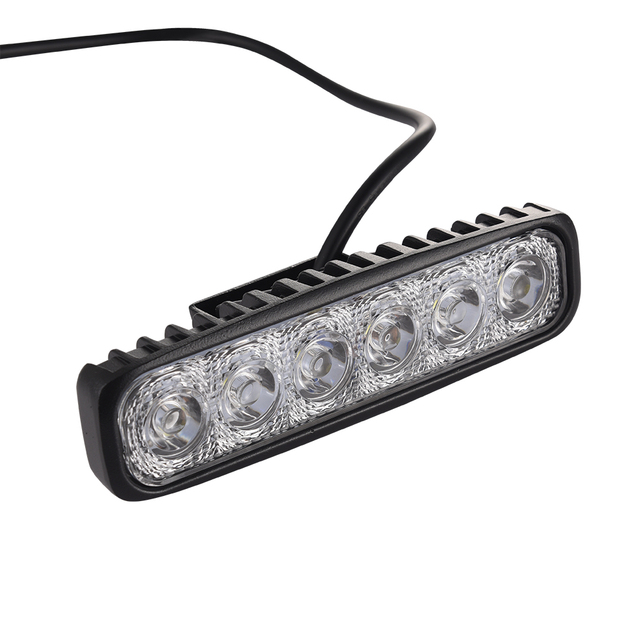 1PCS LED Work Light Bar 18W For Motorcycle Car Truck Boat Tractor Working Light Off Road Work Lamp Motorbike Driving  LED Lights