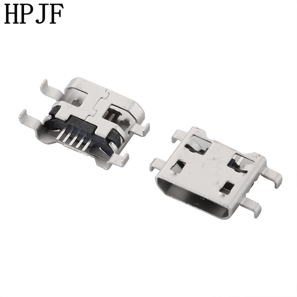 10PCS Micro USB Data Type B Female 5Pin SMT SMD Socket 4Legs DIP Soldering Connector Jack Plug Flat mouth 20pcs micro usb 5pin no side ox horn female usb socket flat mouth four legs socket mini usb connector free shipping