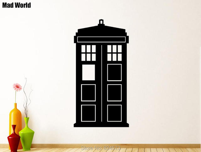 Mad World Doctor Who Tardis Silhouette Wall Art Stickers Wall Decal Home  DIY Decoration Removable Part 35