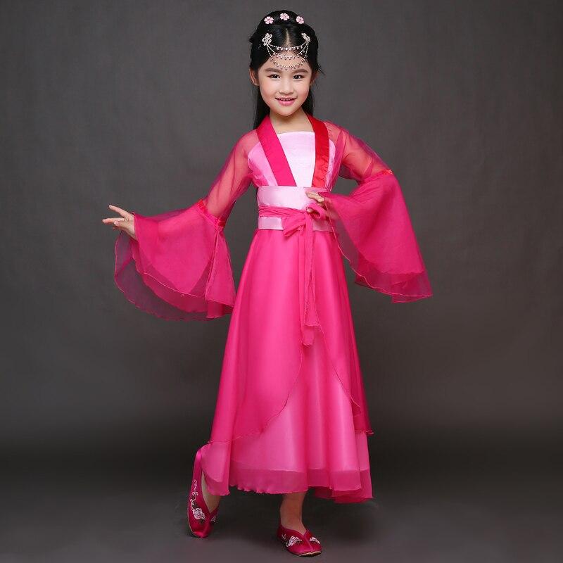 Traje tradicional chino de los niños Princesa de la muchacha Vestido - Novedad