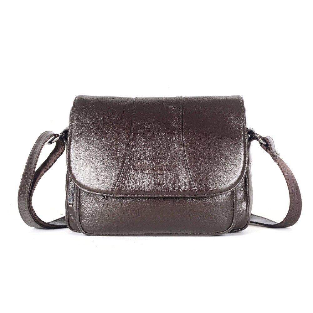 CHEER SOUL Genuine Leather Small Crossbody Bags For Women Ladies' Messenger Bag Female Shoulder Bags Mother Mom's Handbags cheer