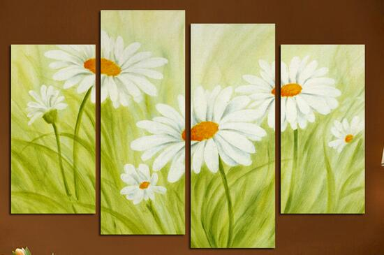 4 Square Art Canvas Painting Home Decor Oil Pictures