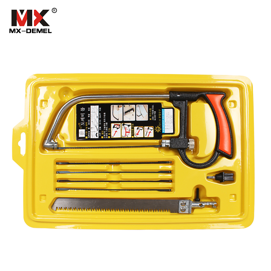 MX-DEMEL 8 in 1 Mental Magic Saw Hacksaw DIY Hand Saw for Wood Woodworking Saws Set Kit with 6 Blades Model Multi Purpose Hobby