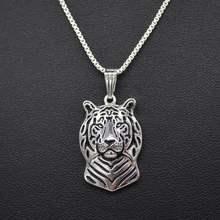 1869421c4b58 Venta caliente joyería animal en forma de tigre Collares Tiger Head Colgantes  para las mujeres