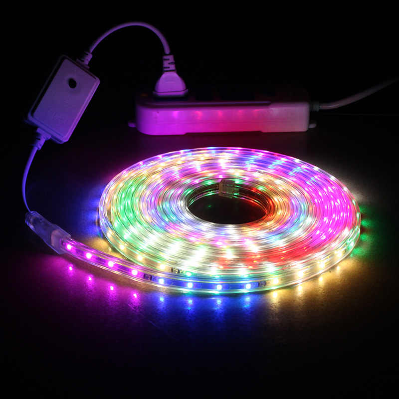 Laimaik Colorful Led Strip Light Ac220v 6 Color With Controller Multicolor Ip67 Waterproof Flexible Tape