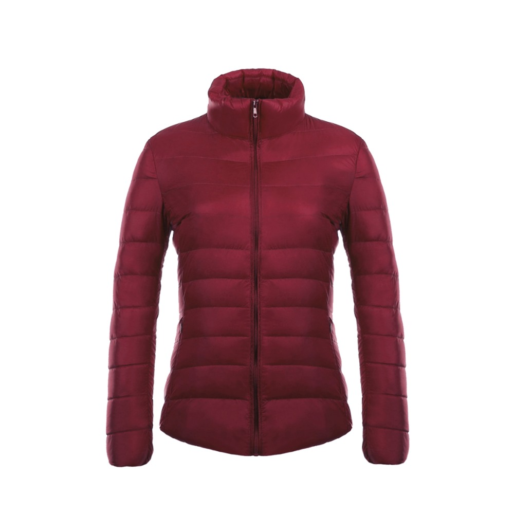 Womens Winter Jackets and   Coats   Ultra Light   Down   Jacket Women 2017 Parka Solid Short Thin Warm 90% White Duck Feather Outwear