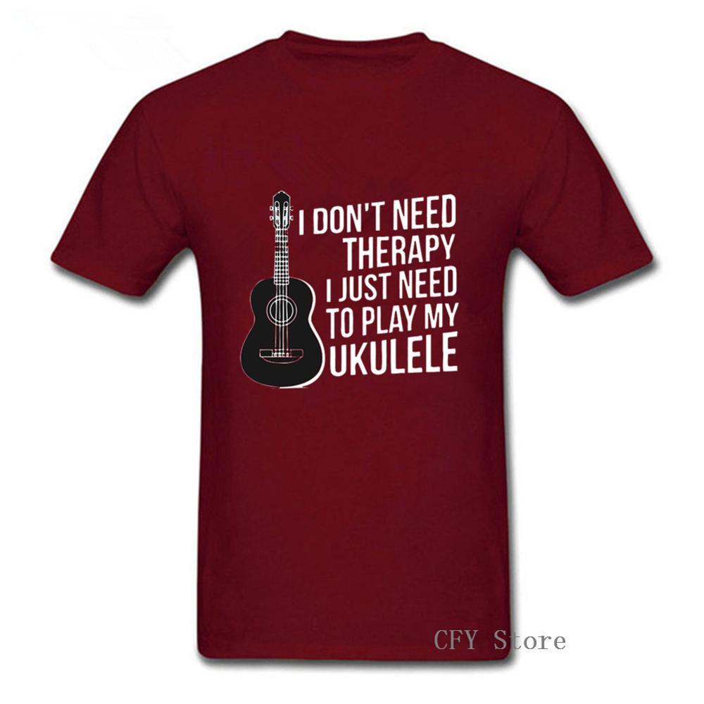 Мне не нужна терапия, мне просто нужно играть на моей гавайской музыкальной гитаре, Мужская футболка, лето 2019, модная мужская одежда с коротк...