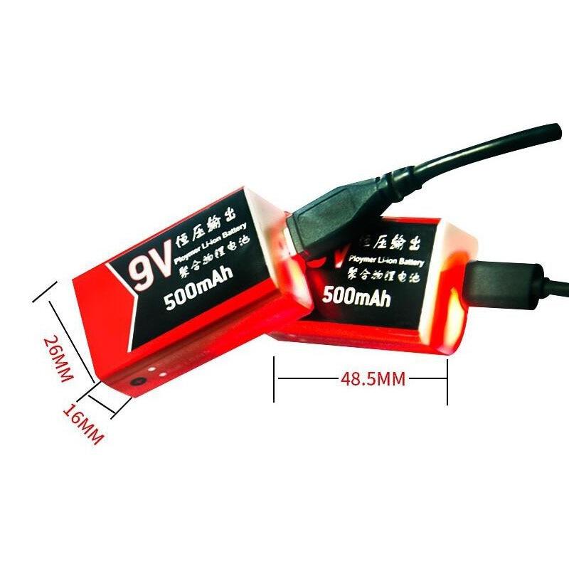 USB polnjenje 9V baterija