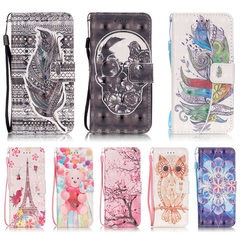 for touch 6 3D painting PU Leather Stand Wallet Flip Case For apple Ipod touch5 6 Cases For touch 5 Magnetic Phone Cover