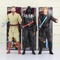 "12""30CM Movie Star Wars Action Figure Stormtrooper Darth Vader Anakin Skywalker Obi-Wan Kenobi PVC Collectiable Model Doll Toys"