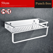 Punch-free bathroom shelf  Space aluminum multifunctional three combined type storage rack