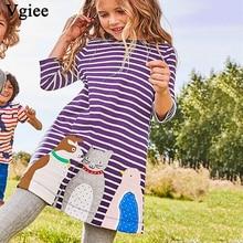 Vgiee Baby Girls Clothes Kids Dresses Autumn 2019 Brand Dress for Girls 3 Years Long Sleeve Children Dress for Animals цена в Москве и Питере