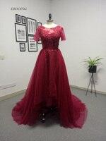 Бордовый Цвет 2018 мать невесты Платья для женщин фигурным вырезом длиной до пола халат De Soiree Формальные особых поводов платья
