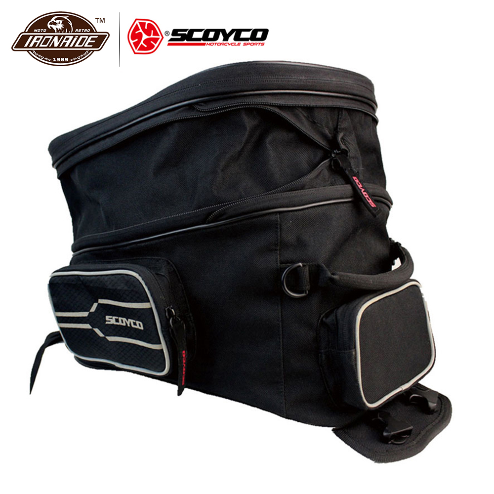 SCOYCO Black Motorcycle Bags Motocicleta Oil Tank Bag Motorcycle Racing Backpack Motorcycle Tank Bag Motorcycle Helmet Bags motorcycle expandable magnet and mechanical ring fix tank bag racing backpack for benelli bn600 tre 899 k