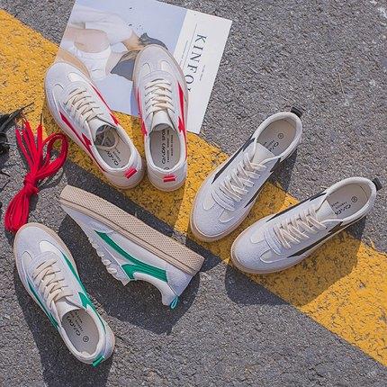 6 Harajuku Version Coréenne 7 2 Femmes Chaussures De Rétro À Petit Voile 2018 Saveur 4 3 5 Sauvage 1 Blanc La Nouveau Planche Épais Fond 8PvnyNOmw0