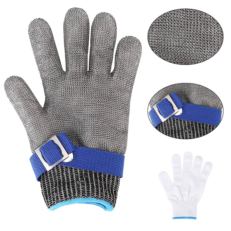 Anti Cut Anti Static Anti Vibration Stainless Steel Butcher Slaughter Catching Fish Gloves Welding Work Safety Protective Gloves
