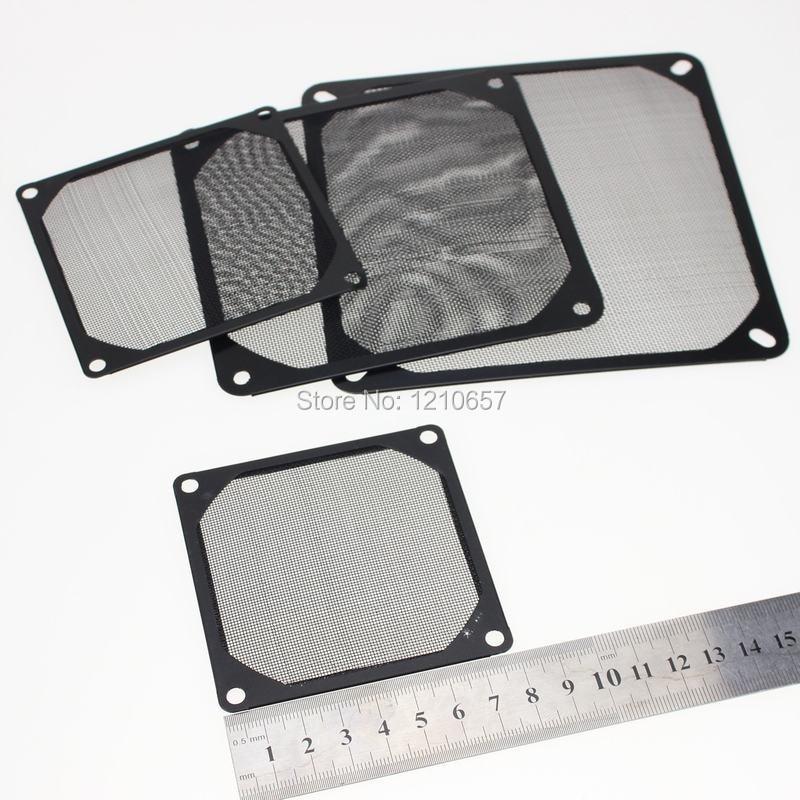 Fan Cooling 8cm Black Fan Dust Filter Computer Fan Aluminum Dustproof Cover Computer Components