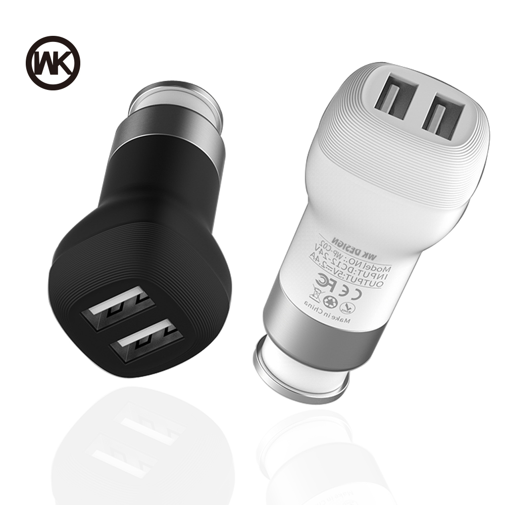WK DESIGN Fast Car USB Charger Adapter for iPhone X 6 6S 7 8 Plus Mobil