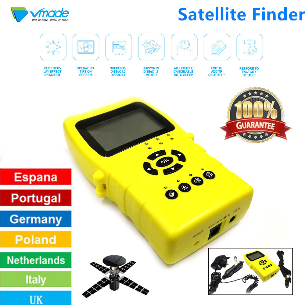 Vmade Satellite Finder TM-8511 High Definition Satellite Finder Satellite  receiver DVB S2 V7 HD,V8 NOVA,V9 SUPER Set Top Boxes