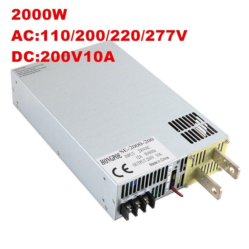2000W 10A 200V Power Supply 200V 10A Output voltage current adjustable AC-DC 0-5V analog signal control 20-200V kp1000a 200v 1600v