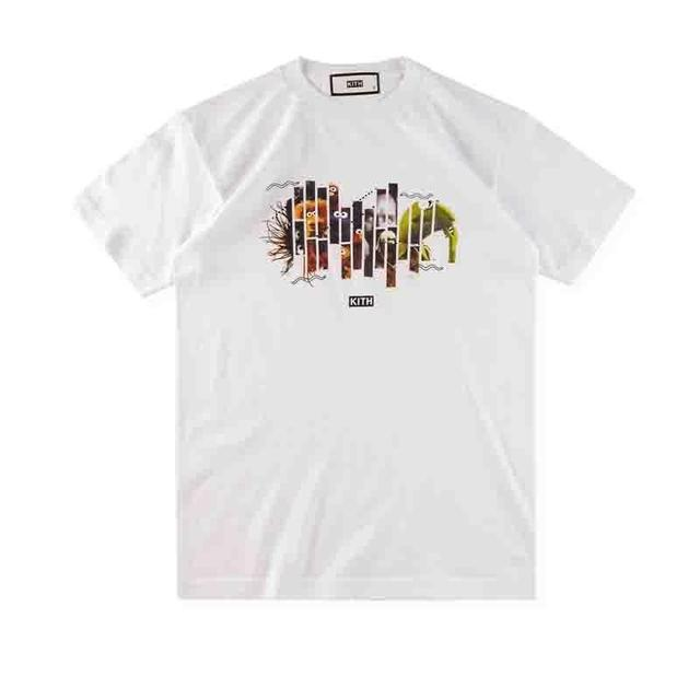 cd18f917e69725 Kith x Bergdorf Goodman x MOMI Sesame Street Jim Henson Tee White Size  Medium Cartoon t shirt men Unisex New Fashion tshirt