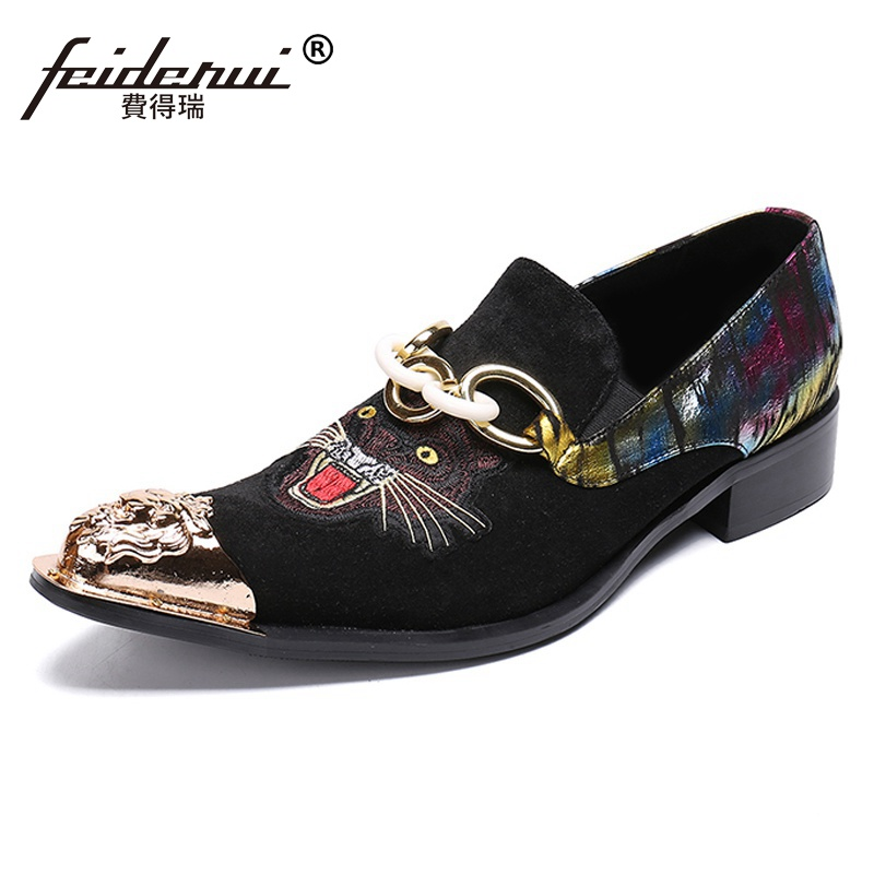 Plus Size Stylish Pointed Toe Man Formal Dress Metal Tipped Loafers Cow Suede Leather Mens Banquet Party Dance Shoes SL286Plus Size Stylish Pointed Toe Man Formal Dress Metal Tipped Loafers Cow Suede Leather Mens Banquet Party Dance Shoes SL286