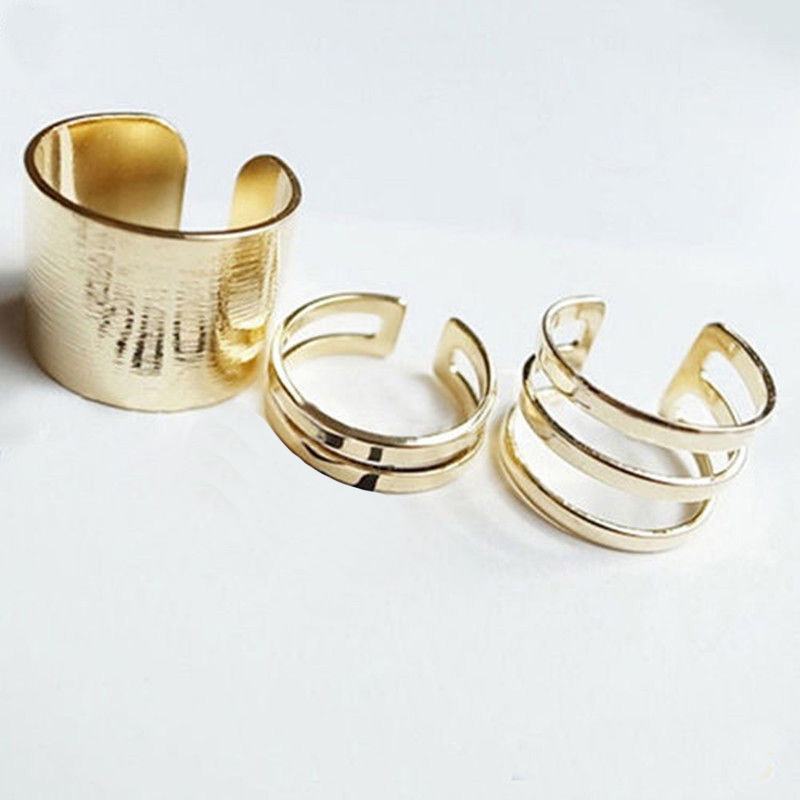 Tip Top Jewellery: 2015 New 3Pcs/Set Fashion Top Of Finger Over The Midi Tip Finger Above The Knuckle Open Ring For