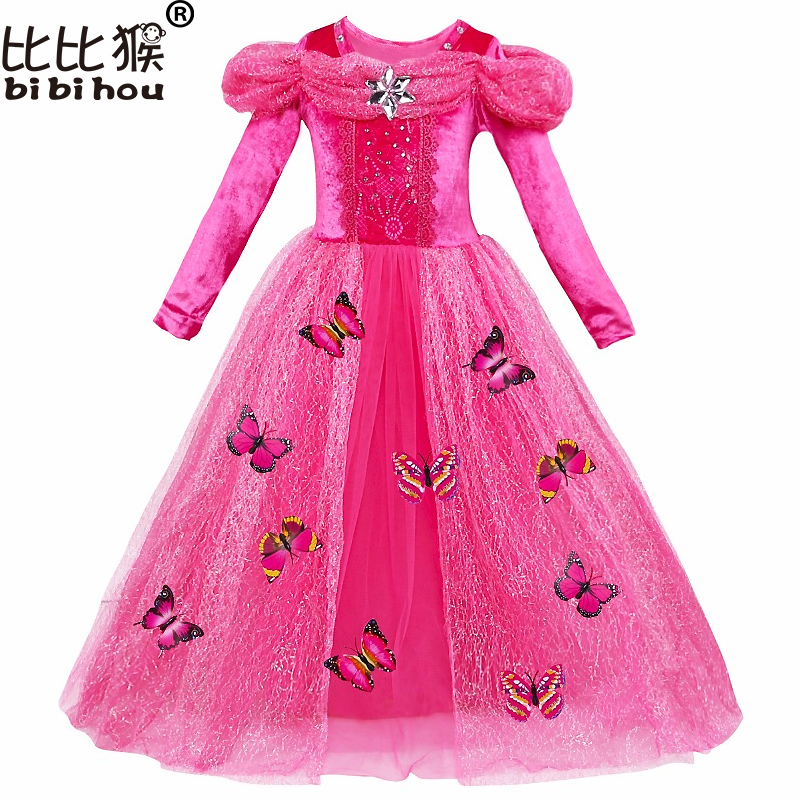 GIRLS princess Cinderella dress Baby 3D-butterfly Costume kids clothes Girl Costume Fancy Dress Cosplay Costume children cloth teen titans starfire tamaran princess cosplay costume f006