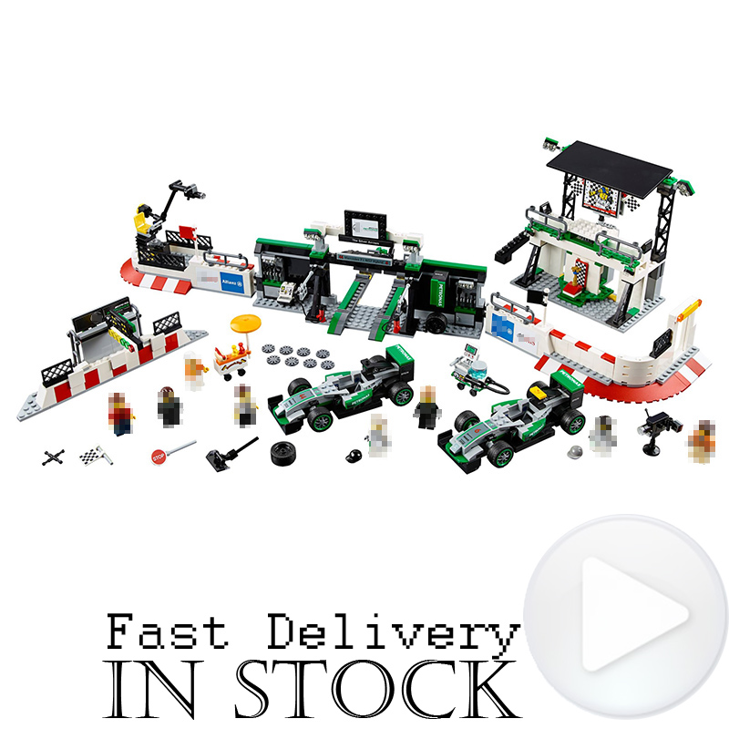 цена Lepin 28006 1016Pcs Speed Champions AMG PETRONAS Formula Team Set Children DIY Building Blocks Bricks Toys Gifts legoINGly 75883