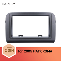Harfey Car 2Din Auto Radio Trim Installation Kit Fascia Frame for FIAT CROMA 2005 Dashboard Stereo Dash Frame Panel Black Color